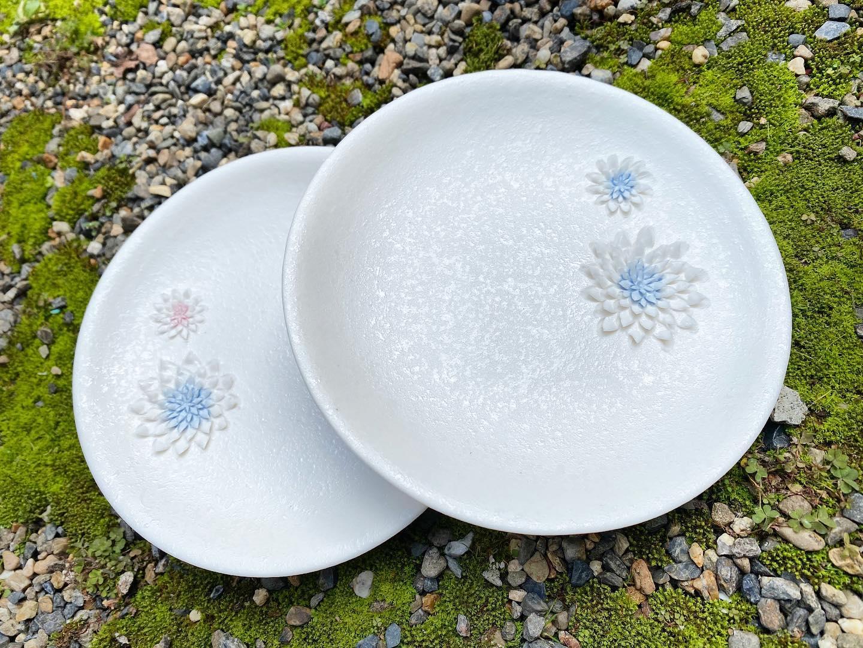一点物のお皿、京都陶芸家、紅村