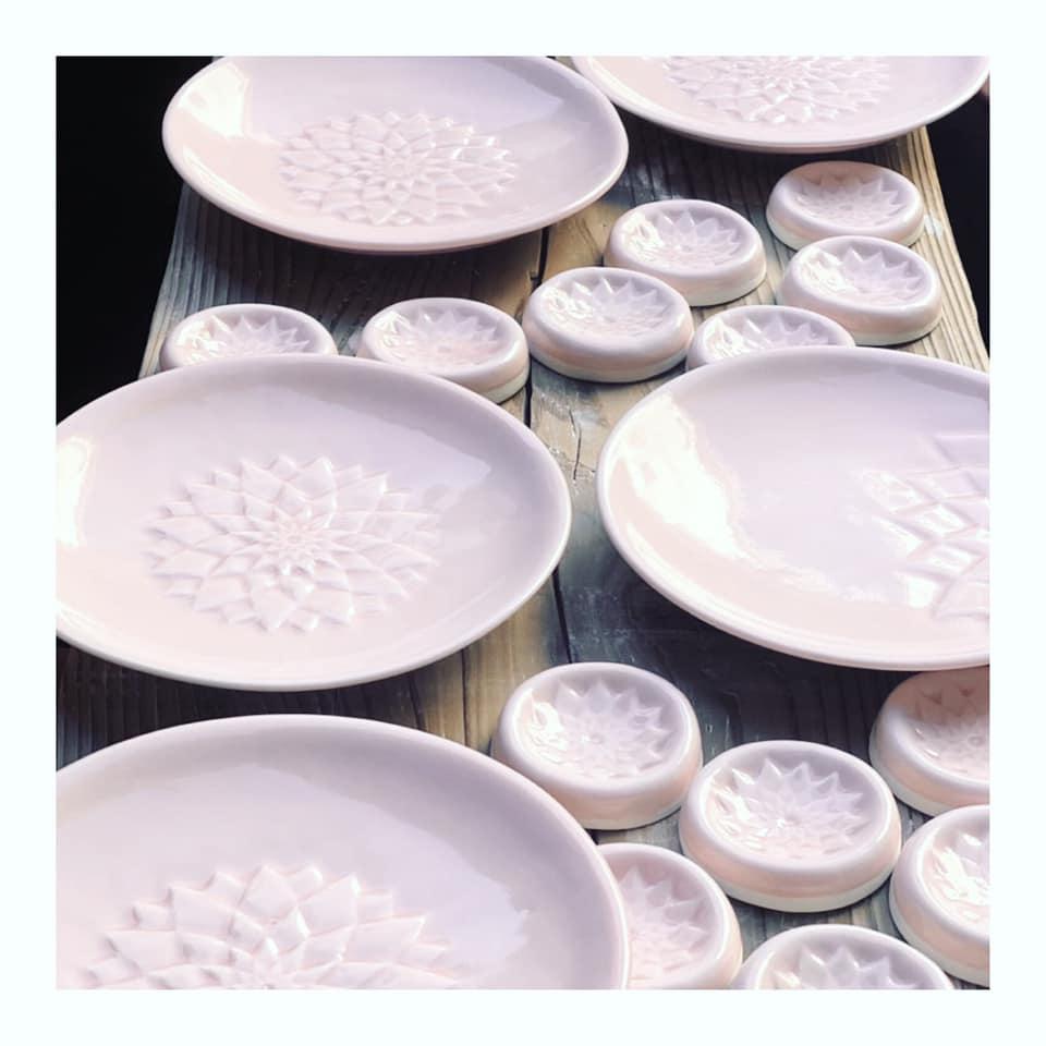 京都陶芸家、紅村窯の作品