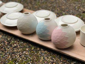 花瓶、京都陶芸家紅村窯